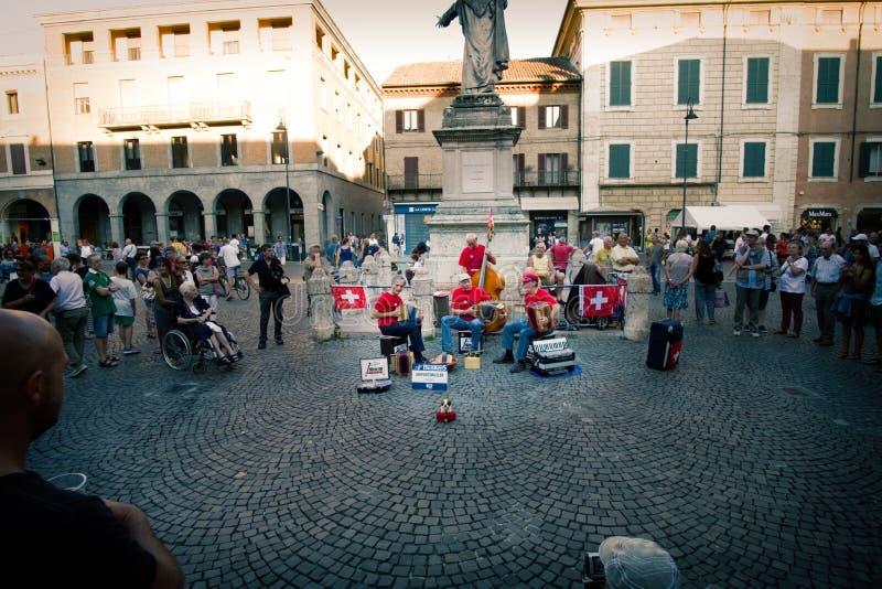 Ferrara Busker Festival 2016, Italy stock images