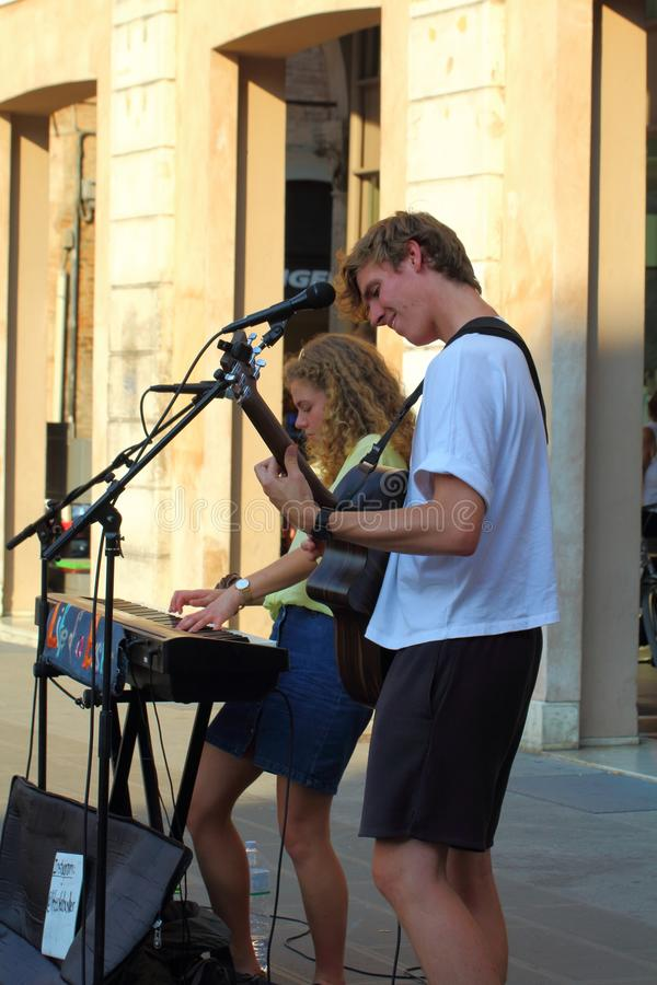 The Ferrara Buskers Festival, from august 24 to 1 september,  is dedicated to the art of the stock images