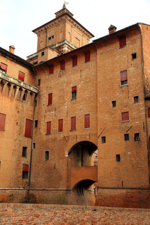 Ferrara, FE Włochy, Listopad, - 3, 2018: Średniowieczny kasztel nazwany Ca obraz stock