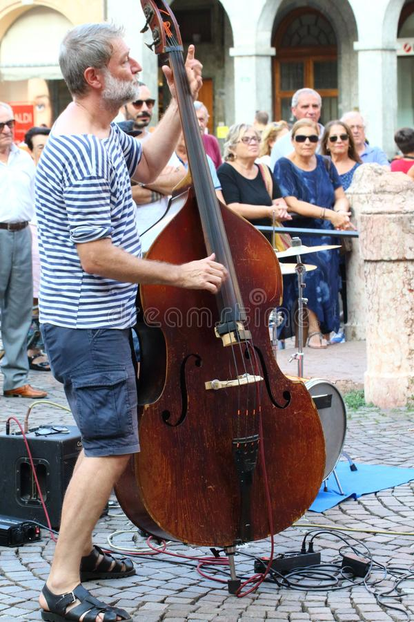 Artists perform in the street. Buskers Festival royalty free stock photos