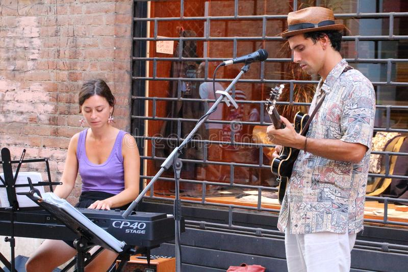 The Ferrara Buskers Festival, from august 24 to 1 september,  is dedicated to the art of the royalty free stock photography