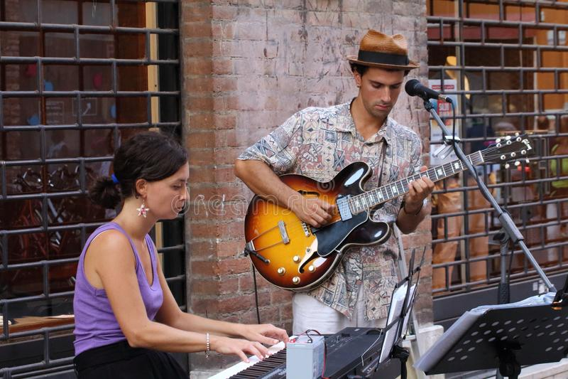 The Ferrara Buskers Festival, from august 24 to 1 september,  is dedicated to the art of the royalty free stock image