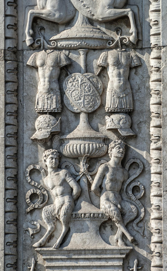Download Ferrara, Ornaments On A Historic Palace Stock Image - Image: 28577071