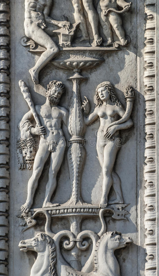 Download Ferrara, Ornaments On A Historic Palace Stock Photo - Image: 28577084