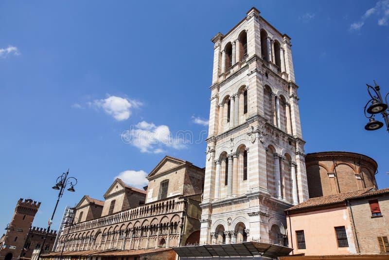 FERRARE, ITALIE - JUIN 2017 : vue de Castello Estense dans la ville de Ferrare Château de Castello Estense Este, Castello di San photos libres de droits