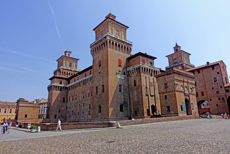 Ferrare, une vue du château du ` s de ville photographie stock libre de droits