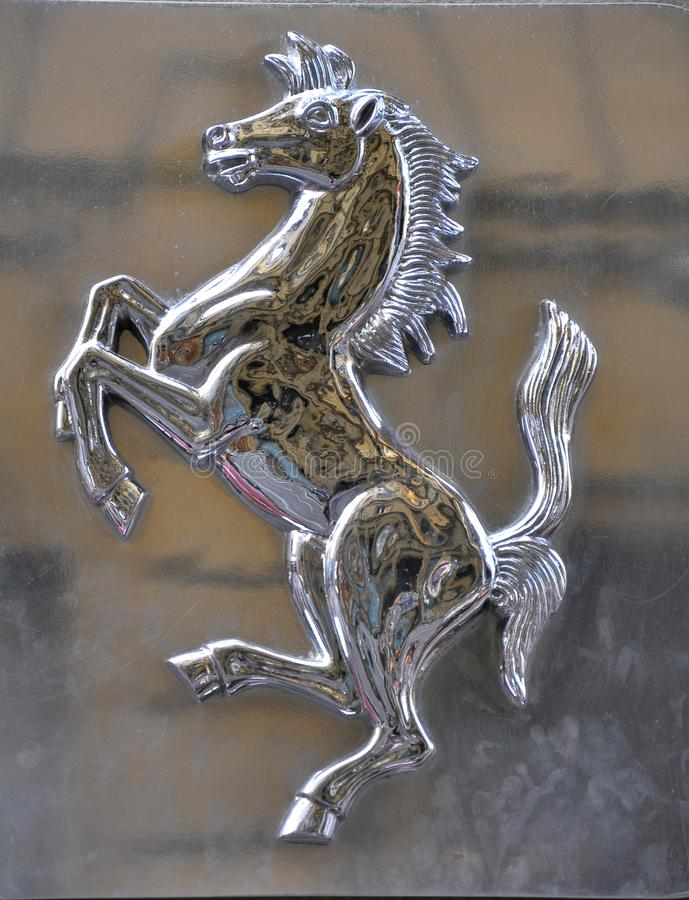 ferrari徽标 库存照片