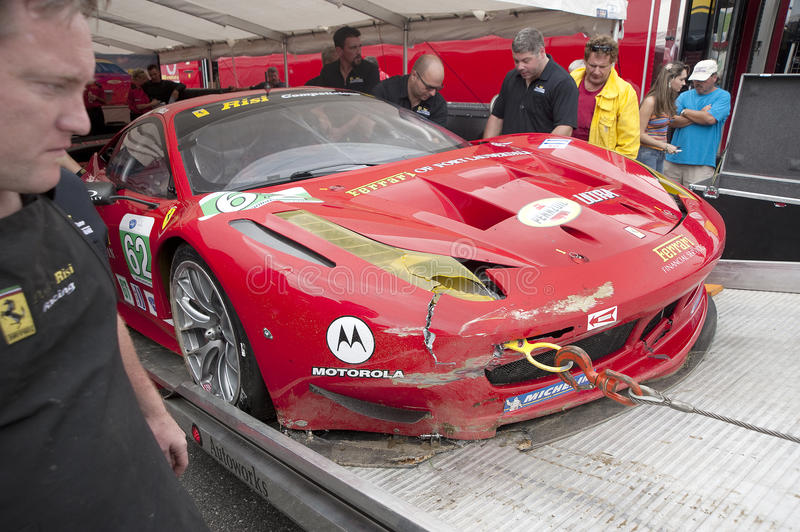 Download Ferrari 458 editorial photography. Image of accident - 23692052