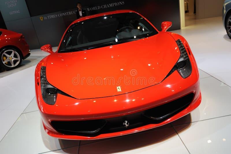 Ferrari 458 Italia front royalty free stock photography