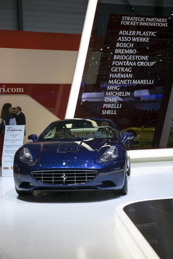 Ferrari California. At the 2011 Geneva Motor Show. Photo taken on: March 04th, 2011 stock photography