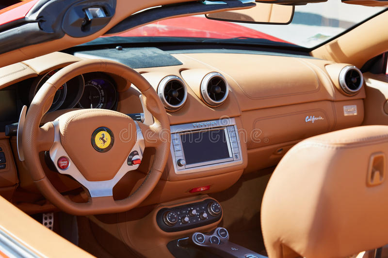 Ferrari California Leather Interior, Luxury Car Editorial Image ...