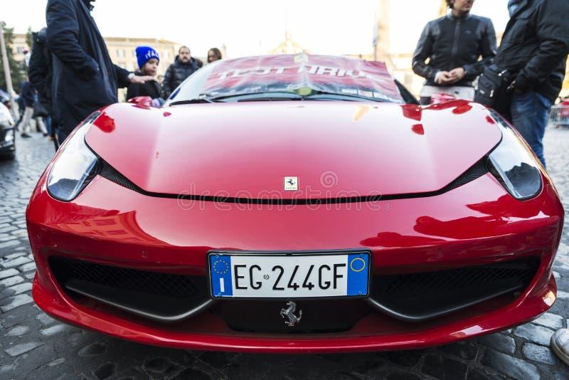 Ferrari Car Logo In Rome Italy Editorial Stock Photo Image Of