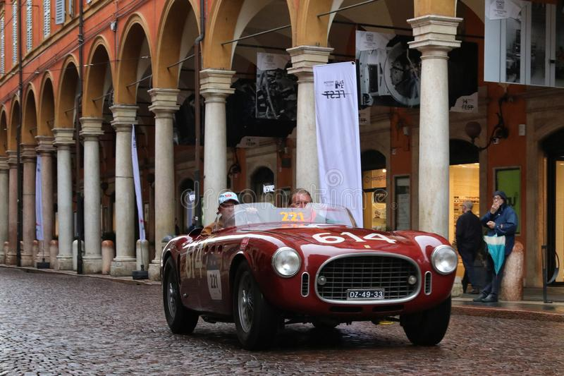 Ferrari car, Mille Miglia, historic car race, Modena, May 2019 royalty free stock images