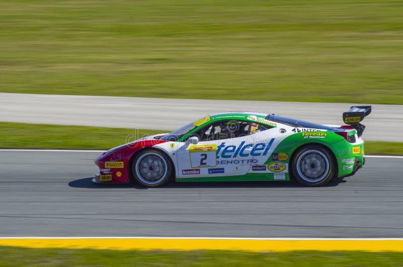 Ferrari Challenge 2016 Daytona winning car of Ricardo Perez de Lara. Ferrari 458 Italia Challenge Evo of Ricardo Perez de Lara won the 2016 Daytona North stock photos