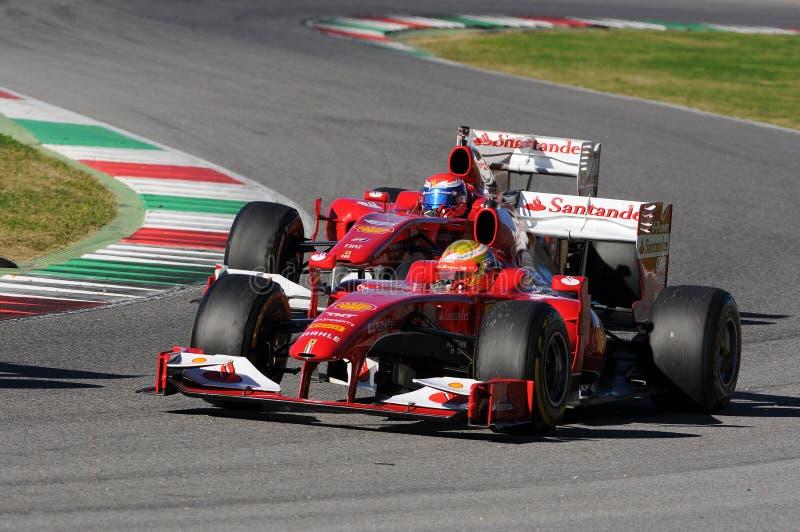 Ferrari Dag 2015 Esteban Gutiérrez en Marc Genè op Ferrari F1 royalty-vrije stock afbeeldingen
