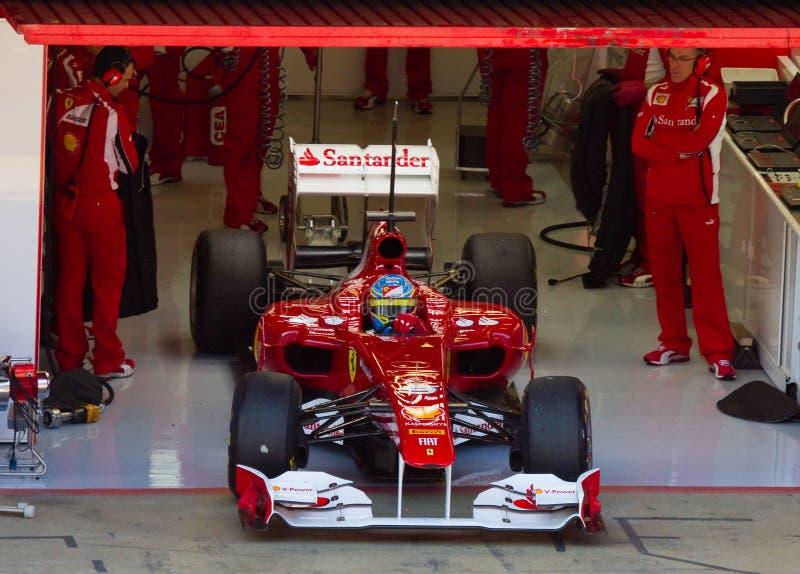 Ferrari dans la piqûre images stock