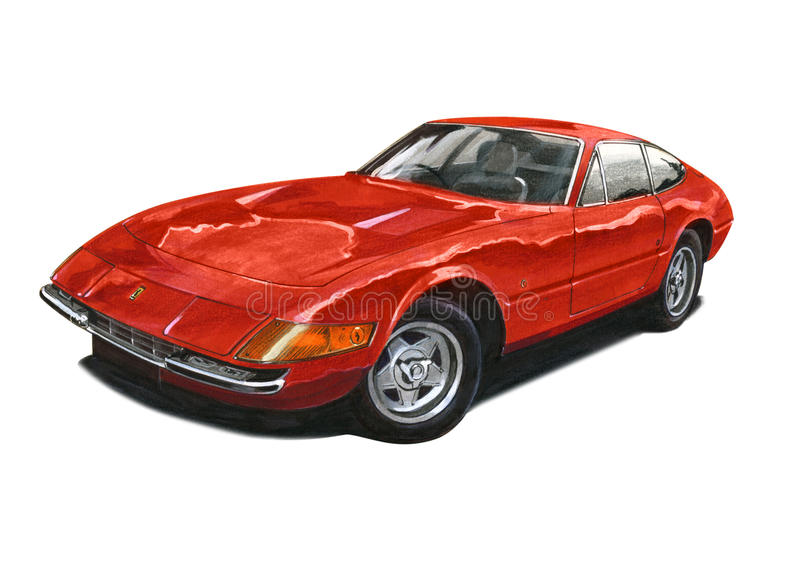 Ferrari Daytona royalty free illustration