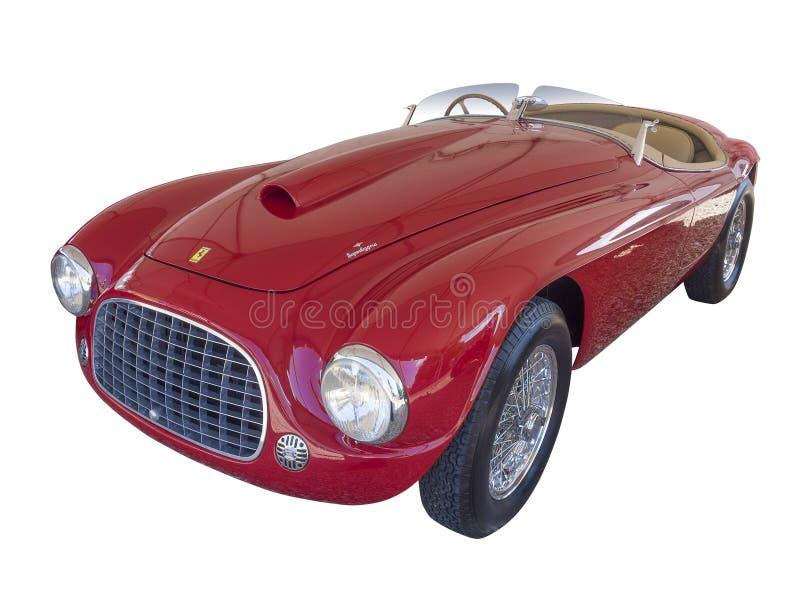 Ferrari de 166 HEREN geïsoleerde Barchetta, stock foto