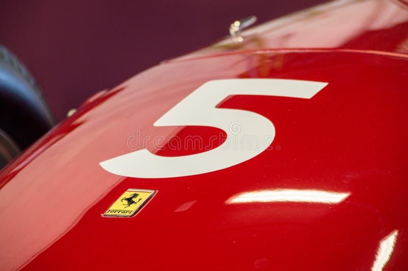 Ferrari 246 Dino 0007 στο κύκλωμα de Βαρκελώνη, Καταλωνία, Ισπανία στοκ εικόνα
