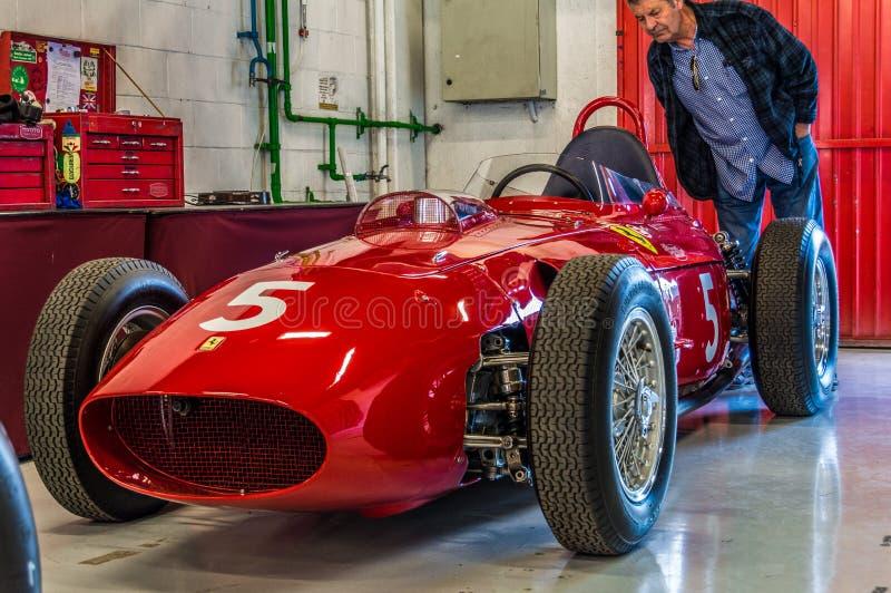 Ferrari 246 Dino 0007 in Circuit de Barcelona, Catalonia, Spain.  stock photo