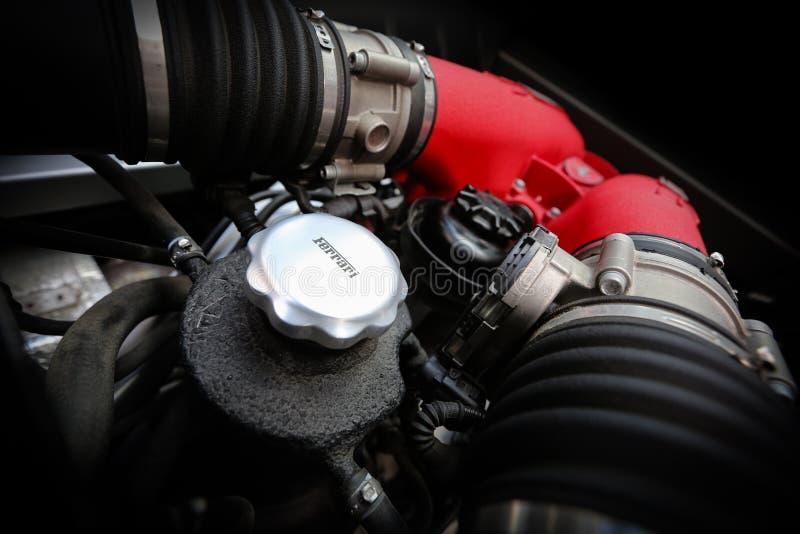 Ferrari engine royalty free stock photos