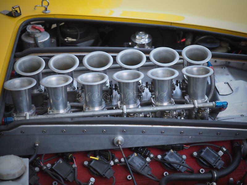FERRARI-ENGINE-MOTOR - Goodwood-Festival der Geschwindigkeit und der Wiederbelebung lizenzfreies stockbild