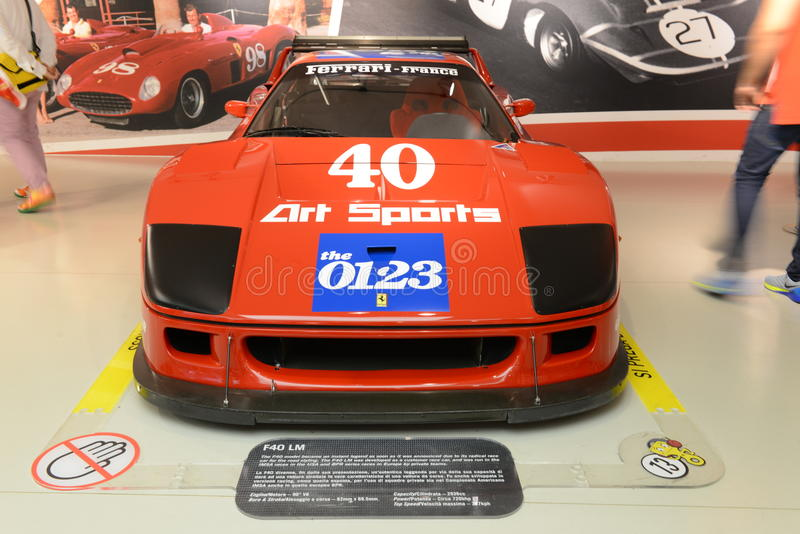 Ferrari F40 Le Mans lizenzfreie stockfotografie