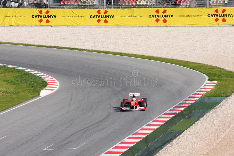 Ferrari F1 stock foto's