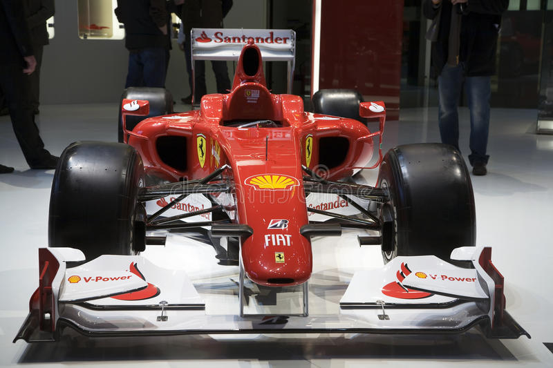 Ferrari F10 Formula One royalty free stock photography