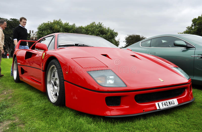 Ferrari F40 images libres de droits