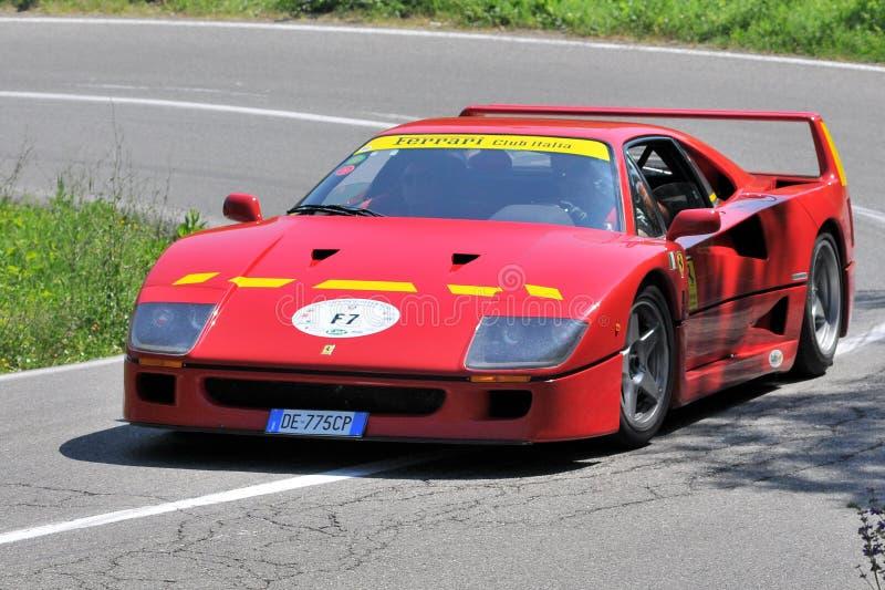 Ferrari F40 -Vernasca Silver Flag 2011 Editorial Photo