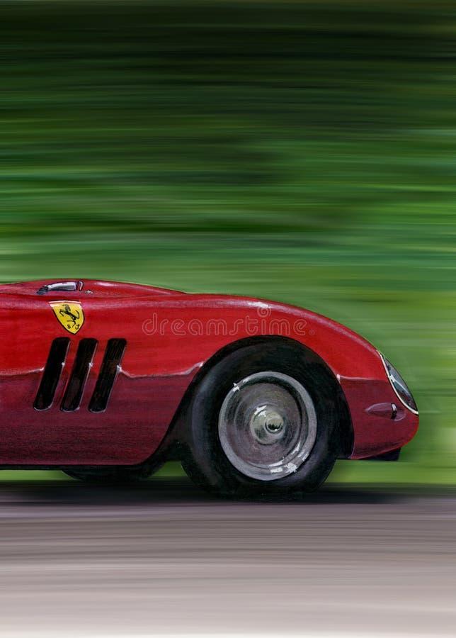 Ferrari Ferrari 250GTO stock illustrationer