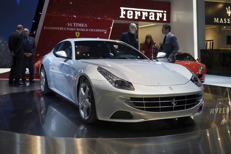 Ferrari FF. Making its debut at the 2011 Geneva Motor Show. This is Ferrari's first ever 4 wheel drive car. Photo taken on: March 04th, 2011 royalty free stock photography