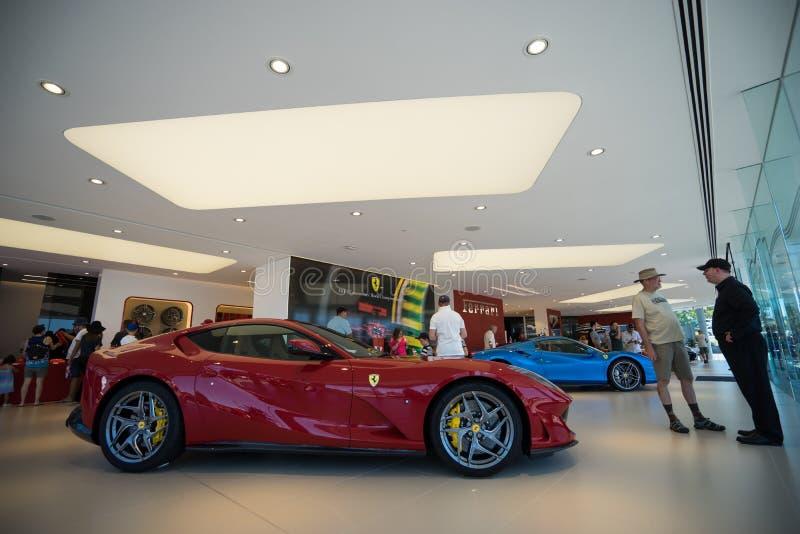 Ferrari Gold Coast Australien visningslokalinvigningsdag royaltyfri bild