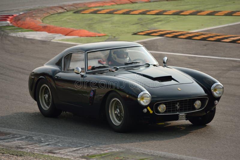 Ferrari 250 GT Berlinetta SWB test 2016 at Monza stock photography