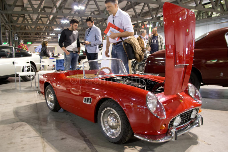 Ferrari 250 GT Cabriolet model Milano Autoclassica 2014 stock photography