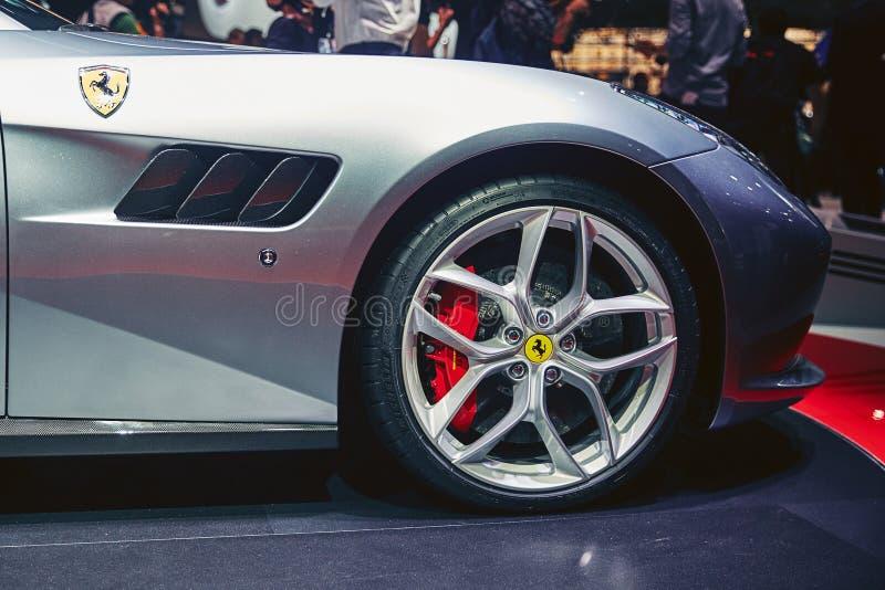 Download Ferrari 2017 GTC4 Lusso T redaktionell fotografering för bildbyråer. Bild av motor - 78726254