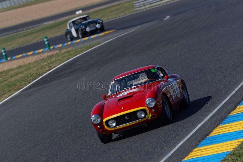 Ferrari GTO en pista imagen de archivo libre de regalías