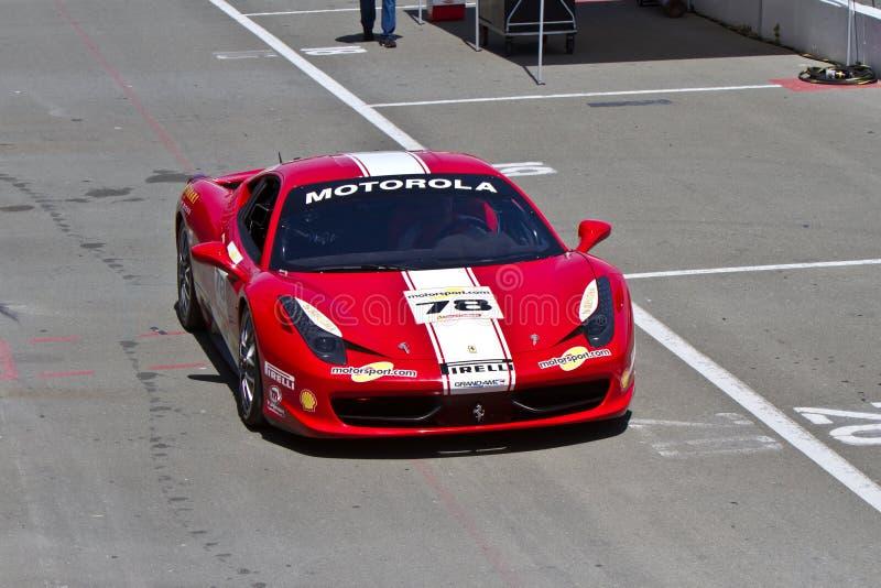 Ferrari-Herausforderung Sonoma-Kanal stockbilder