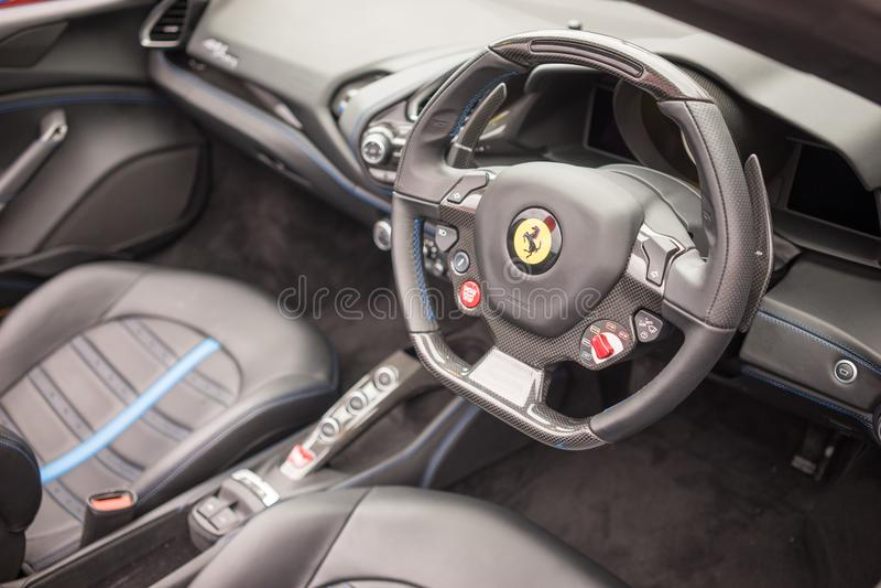 Ferrari 488 Interior View royalty free stock image