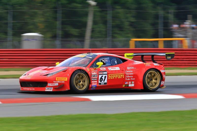 Ferrari Italia racing stock photos
