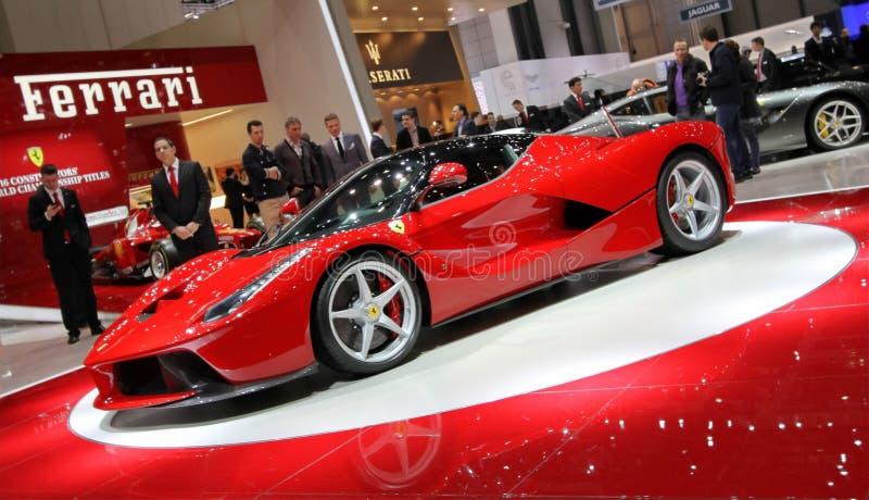 Ferrari Laferrari hybrid supercar royalty free stock photos