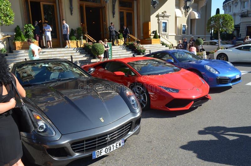 Ferrari Lamborghini y Porsche fotografía de archivo libre de regalías
