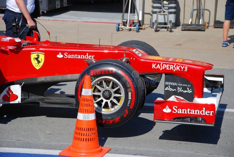Ferrari-laufendes Auto in 2012 F1 kanadisches großartiges Prix stockfotografie