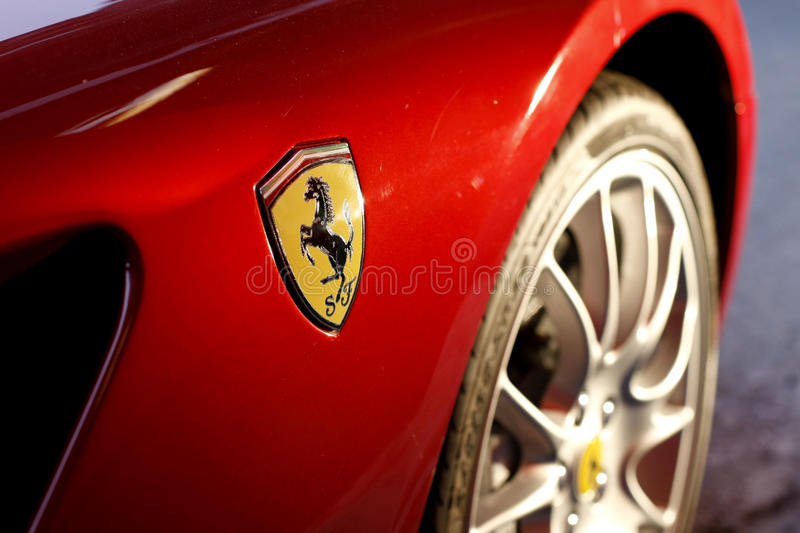 Ferrari Logo stock photos