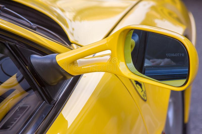 Ferrari maserati e lamborghini super sport cars motor valley modena stock photo