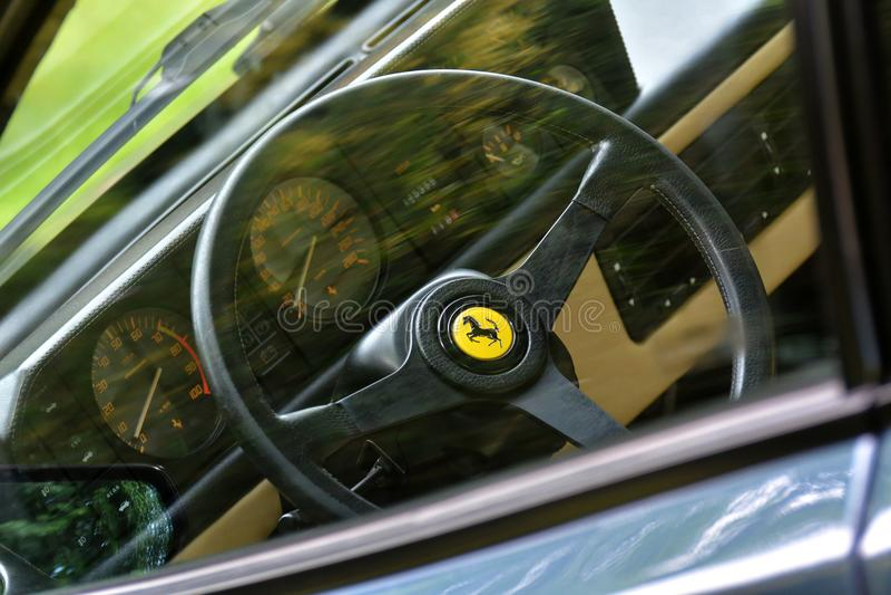 Ferrari Mondial 3.2 interior royalty free stock photography