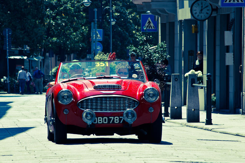 Ferrari 750 Monza at Mille Miglia 2016 royalty free stock photography