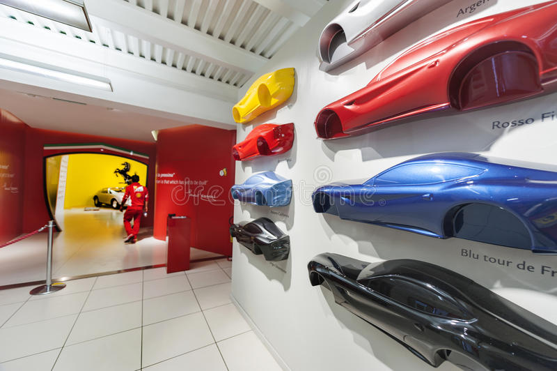Ferrari Museum Hall royalty free stock image