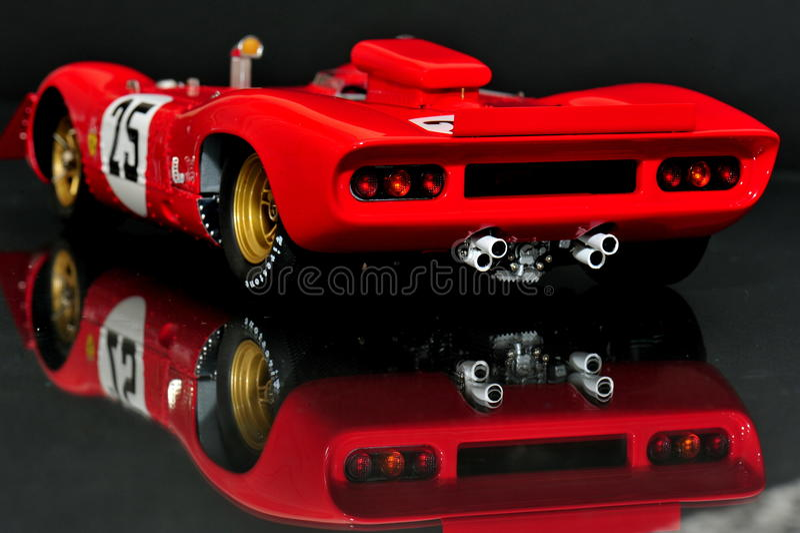 Ferrari 312P Spyder - back view stock image